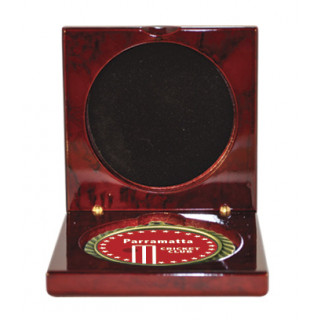 Wood Piano Finish Case -Takes 70mm Medals