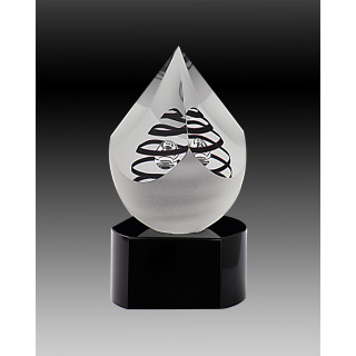 140mm Crystal PYRAMIDE with Black Swirl from $160.18