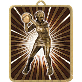 63 x 75MM Netball Player Lynx Medal from $7.28