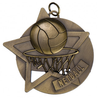 60mm Netball Star Medal