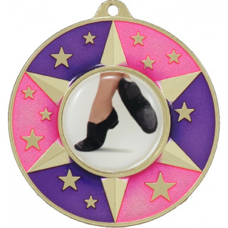 50mm Colour Star Medal with Insert